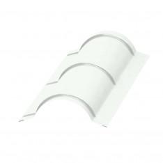 Планка конька круглого R110х2000 NormanMP (ПЭ-01-9003-0.5)