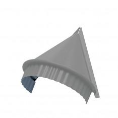Заглушка конька круглого конусная (ПЭ-01-9006-0.45)