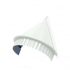 Заглушка конька круглого конусная (ПЭ-01-9010-0.45)