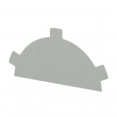 Заглушка конька круглого простая NormanMP (ПЭ-01-9003-0.5)