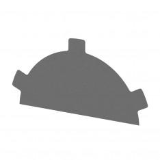 Заглушка конька круглого простая NormanMP (ПЭ-01-9006-0.5)