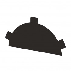 Заглушка конька круглого простая NormanMP (ПЭ-01-RR32-0.5)