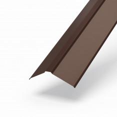 Планка конька плоского 120х120х2000 NormanMP (ПЭ-01-8017-0.5)